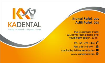 Business cards vinyl de signs inc back side of business card for ka dental colourmoves