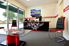 inside of the #1 print & sign shop in west palm beach, fl and south florida.