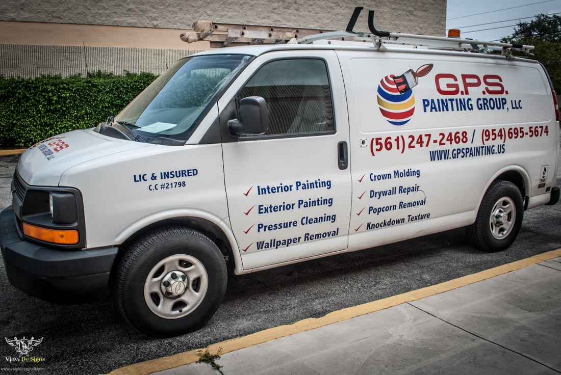 Vinyl De Signs Inc Gps Painting Vehicle Lettering And